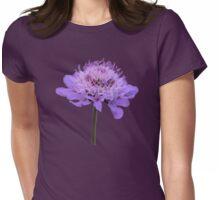 Purple Pincushion Flower Womens Fitted T-Shirt
