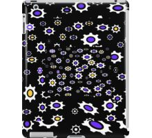 Gears black, purple and white pattern iPad Case/Skin