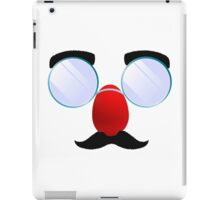 Funny Glasses with a red nose. iPad Case/Skin