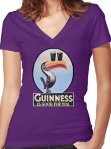GUINNESS IS GOOD FOR YOU TOUCAN Women's Fitted V-Neck T-Shirt