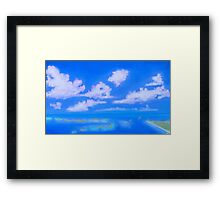 Summer over the ocean,  painting Framed Print