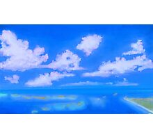 Summer over the ocean,  painting Photographic Print