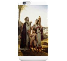 Horace Vernet - Abraham Driving Hagar Away  iPhone Case/Skin
