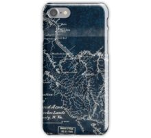 208 Map showing location of the Gallego forty thousand acres of coal and timber lands Fayette County W Va Inverted iPhone Case/Skin