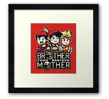 Another MOTHER Trio -alt- (Ness, Ninten & Lucas) Framed Print