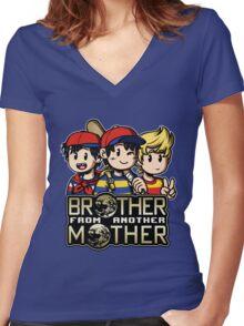 Another MOTHER Trio -alt- (Ness, Ninten & Lucas) Women's Fitted V-Neck T-Shirt