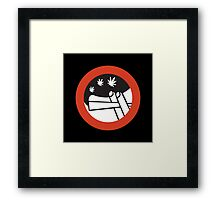 No Joint Smoking, Street Sign, Amsterdam, Netherlands Framed Print