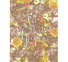 All That Glitters [Gold Floral] Photographic Print
