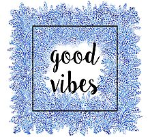 Good Vibes Flower Box Photographic Print