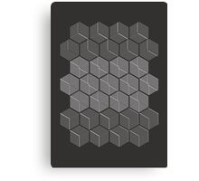 Hexagonal Cubic Pattern Canvas Print