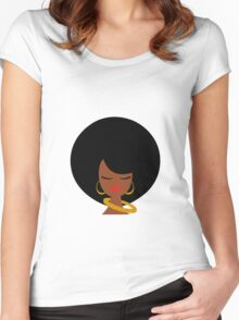 Retro style Women's Fitted Scoop T-Shirt