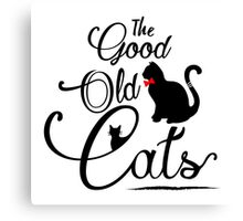 The Good Old Cats Brand Logotype Canvas Print