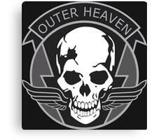 MGS - Outer Heaven Logo Canvas Print