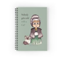 Cat keep warm - Wicked Witches Spiral Notebook