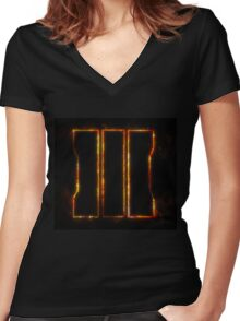 call of duty black ops 3 Women's Fitted V-Neck T-Shirt