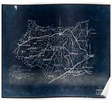 230 Preliminary map of Prince Edward County Virginia Inverted Poster