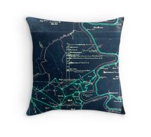 190 Map of the Loup-Piney Divide coal lands in Fayette and Raleigh cos West Virginia 1 Inverted Throw Pillow