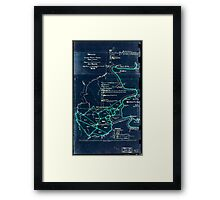 190 Map of the Loup-Piney Divide coal lands in Fayette and Raleigh cos West Virginia 1 Inverted Framed Print