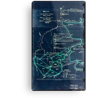 190 Map of the Loup-Piney Divide coal lands in Fayette and Raleigh cos West Virginia 1 Inverted Metal Print