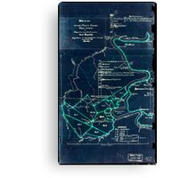 190 Map of the Loup-Piney Divide coal lands in Fayette and Raleigh cos West Virginia 1 Inverted Canvas Print