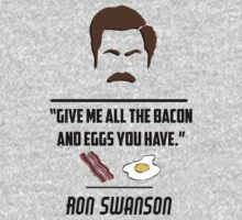 Ron Swanson One Piece - Short Sleeve