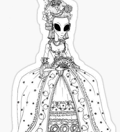Alien Rococo Sticker
