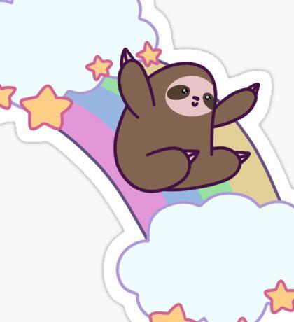 Rainbow Cloud Sloth Sticker