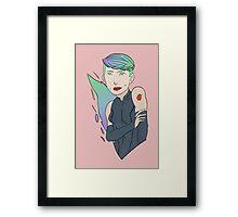 Sci-Fi Girl Framed Print