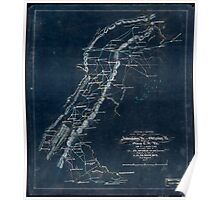247 Sketch of routes of the 2nd Corps AN Virginia from Fredericksburg Va to Gettysburg Pa and return to Orange CH Va June 4th to August 1st 1863 Inverted Poster