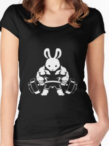 Not the average GYM BUNNY (no text) Women's Fitted Scoop T-Shirt