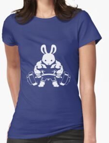Not the average GYM BUNNY (no text) Womens Fitted T-Shirt