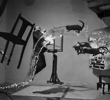 Dali Atomicus - by Philippe Halsman - Enhanced by Henri Ton