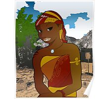 West African Girl Poster