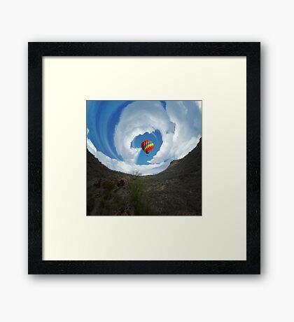 Hot Air Ballon and Clouds Framed Print