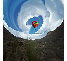Hot Air Ballon and Clouds Photographic Print