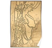 American Revolutionary War Era Maps 1750-1786 866 Skecth sic of the road from Kings Bridge to White Plains Poster