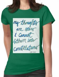 Quote, John Green Womens Fitted T-Shirt