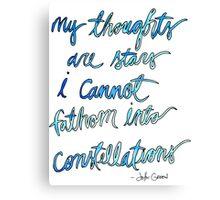 Quote, John Green Canvas Print