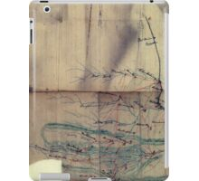 026  Map of part of eastern West Virginia extending from Romney westward to Clarksburg centering on the Rich Mountain Battle area iPad Case/Skin