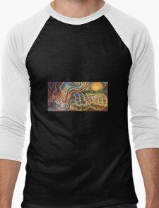 Sunset fire Men's Baseball ¾ T-Shirt