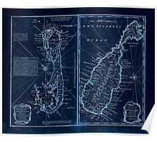 American Revolutionary War Era Maps 1750-1786 130 A new & accurate map of Bermudas or Sommer's Islands taken from an actual survey wherein the errors of Inverted Poster