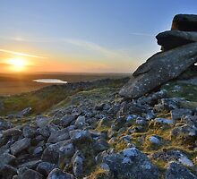 Cornwall: Showery Tor Sunset by Rob Parsons