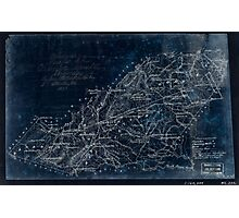 229 Preliminary map of Orange County Virginia Inverted Photographic Print