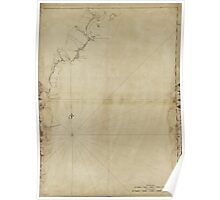 American Revolutionary War Era Maps 1750-1786 494 Coast of New England from Cape Elizabeth Me to Newburyport Mass 1 Poster
