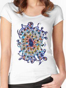 Amistedos V2 - digital art Women's Fitted Scoop T-Shirt