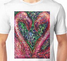 Hearts A'Flamingo Unisex T-Shirt