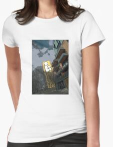 Mother and child by Stik Womens Fitted T-Shirt