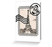 Paris Stamp Greeting Card