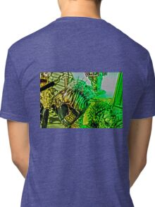 Spiked Green in HDR Tri-blend T-Shirt