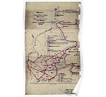 190 Map of the Loup-Piney Divide coal lands in Fayette and Raleigh cos West Virginia 1 Poster